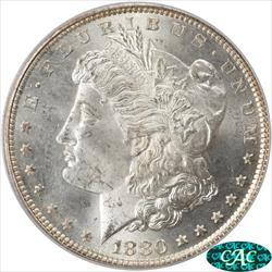 1880 Morgan Silver Dollar PCGS and CAC