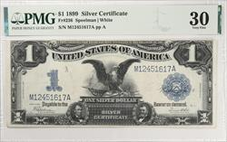 $1 1899 Black Eagle Silver Certificate  FR#236 PMG VF30 Speelman White