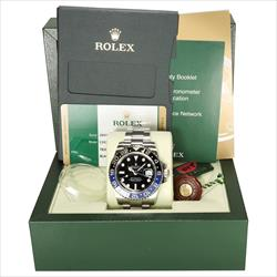 Rolex 40mm GMT Master II 116710BLNR Batman Box, tags and Card