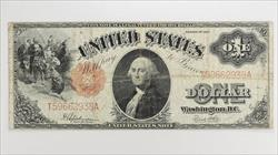 1917 $1 Legal Tender Note, S/N T59662938A. Fr. 39, Circulated Very Fine