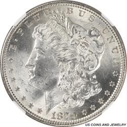 1879 Morgan Silver Dollar NGC MS63 Frosty White Choice BU