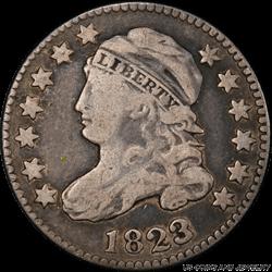 1823/2  Capped Bust Dime Large Es PCGS F-15