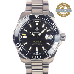 Tag Hauer 43MM Aquaracer Ref/WAY211A-1 Box and Papers