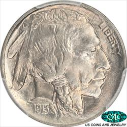 1913  Type 1 Buffalo Nickel PCGS and CAC MS67 Lush Surface with a Brilliant Luster