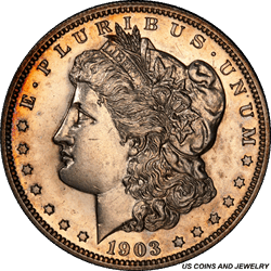 1903 Morgan Silver Dollar PCGS PR62