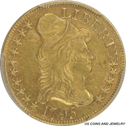1795  Small Eagle Draped Bust PCGS AU53 - Hard Date in Higher Grade