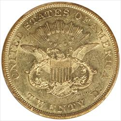 1850 Liberty $20 Gold Double Eagle PCGS