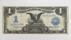 1899 $1 Silver Certificate S/N U15322435U, Fr. 233 Circulated Very Fine