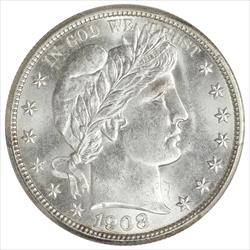 1908-D Barber Half Dollar PCGS MS63 Frosty White Choice BU