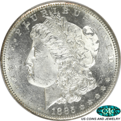 1885-S Morgan Silver Dollar PCGS and CAC MS63