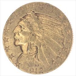 1912-S Indian Head  Circulated Almost Uncirculated - Nice and Original