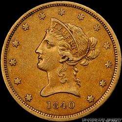 1840 Liberty Head $10 Gold Eagle PCGS XF45