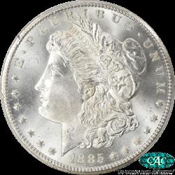 1885-CC Morgan Silver Dollar PCGS CAC MS66