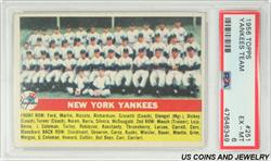 1956 TOPPS YANKEES TEAM #251 PSA