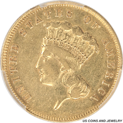 1862 Indian Princess  $3 Gold PCGS XF Details