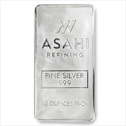 10 OZ ASAHI SILVER BAR .999 fine silver