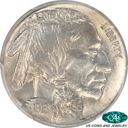 1916 Buffalo Nickel Proof PCGS and CAC PR66 Low Mintage Proof
