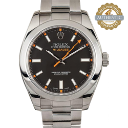 Rolex 40mm Milguass 116400 Box and Papers