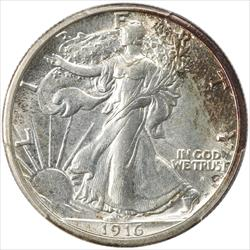 1916-S Walking Liberty Half Dollar PCGS MS63 Low Mintage Key Date