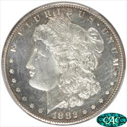 1882-S Morgan Silver Dollar PCGS and CAC MS66+ Heavy Die Polish Near Proof Like