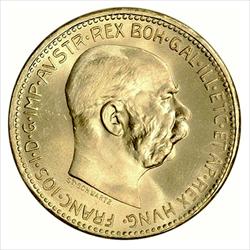 20 CORONA Austria Sovereign gold (.1960 ozt)