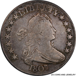 1807 Draped Bust Half Dollar PCGS Genuine Secure Gold Shield
