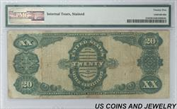 1891 $20 Silver Certificate FR#318 S/N E5323154 pp B PMG
