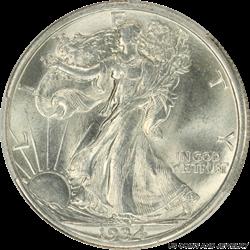1934-D Walking Liberty Half Dollar PCGS MS64