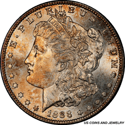 1888-S Morgan Silver Dollar PCGS MS64