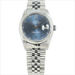 Rolex 36mm DateJust 16200 Blue Stick Index Jubilee Bracelet Watch Only