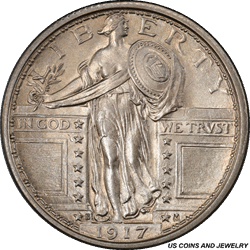 1917-S  Type 1 Standing Liberty Quarter PCGS MS65FH