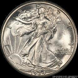 1934-S Walking Liberty Half Dollar PCGS MS65