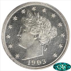 1903 Liberty Nickel PCGS and CAC PR66 Sharp Well Struck Coin