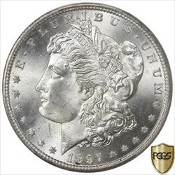 1897-S Morgan Silver Dollar PCGS MS66 Frosty White GEM BU