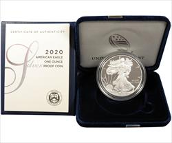 2020 American Silver Eagle - Boxed Proof - with certificate