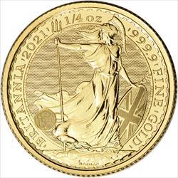 2021 1/4 OZ GREAT BRITAIN GOLD BRITANNIA