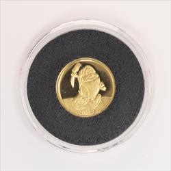 Disney Rarities Mint 1/4 Troy OZ 999 Gold SLEEPY - Snow Whites 50th Anniversary Series