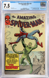 "January 1965 Amazing Spider-Man #20  CGC 7.5   1st Appearance of The ""Scorpion"""