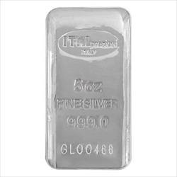 5oz .999 Silver Poured Ital Preziosi Bar With Cert