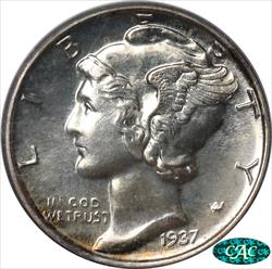 1937 Mercury Dime PCGS and CAC PR65 OGH