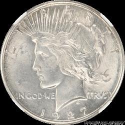 1927-S Peace Dollar NGC MS-64 Blast White