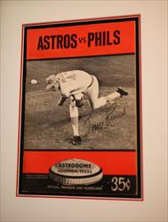 ASTROS VS PHILLIES ASTRODOME SOUVENIR PROGRAM & SCORECARD 35C