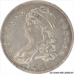 1807  Capped Bust Half Dollar PCGS XF45 Small Stars Variety