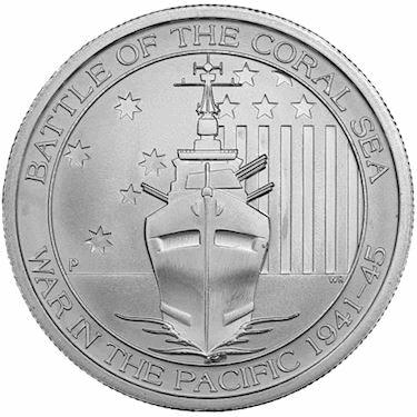 2015 1/2oz Silver .999 Battle of the Coral Sea Round