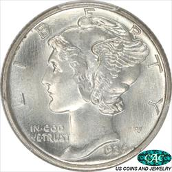 1936-D Mercury Dime PCGS and CAC MS67+ FB Premium Quality + Coin
