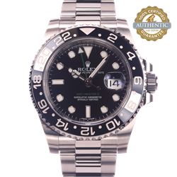 Rolex 40mm GMT Master II 116710LN Black on Oyster Bracelet Watch only