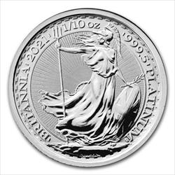 2021 1/10 OZ Platinum Britannia