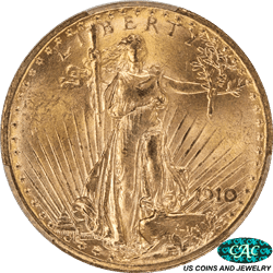 1910 St. Gaudens $20 Gold Double Eagle PCGS and CAC MS64