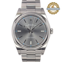Rolex 39mm Oyster Perpetual Stainless Steel Oyster Bracelet Watch Only