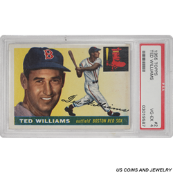 1955 TOPPS #2 Ted Williams Outfield Boston Red Sox PSA